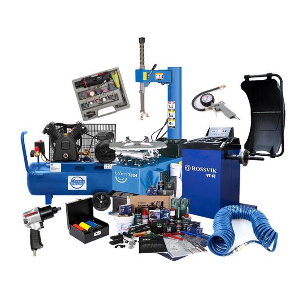 Комплект шиномонтажного оборудования с расходными материалами 1